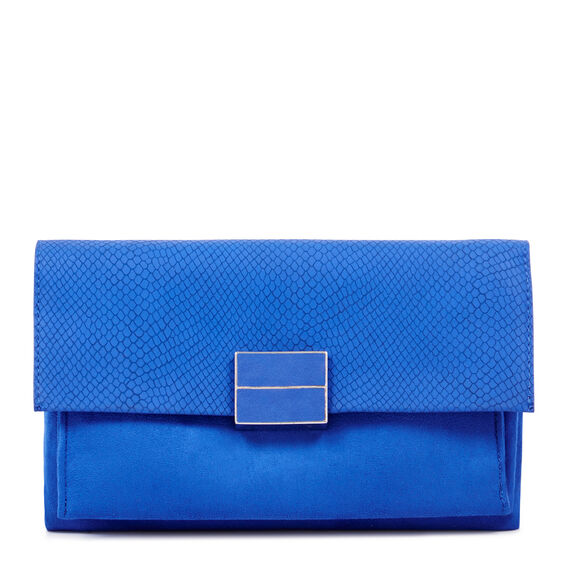 FAUSTA COLLECTION CLUTCH  BLUE  hi-res