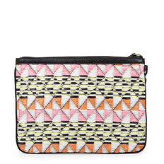 TABLE TREASURES ESSENTIAL ZIP POUCH  PINK MULTI  hi-res