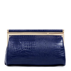 ALMA COLLECTION CLUTCH  INK  hi-res