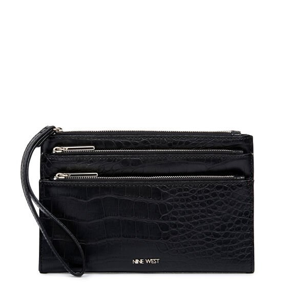 PRETTY LITTLE THINGS TRI ZIP WRISTLET  BLACK  hi-res