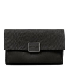 FAUSTA COLLECTION CLUTCH  BLACK  hi-res