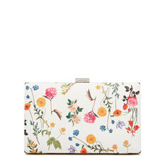 ISMAY COLLECTION CLUTCH  WHITE FLORAL  hi-res