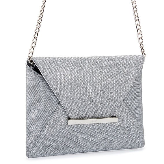 EDELYN COLLECTION CLUTCH  SILVER  hi-res