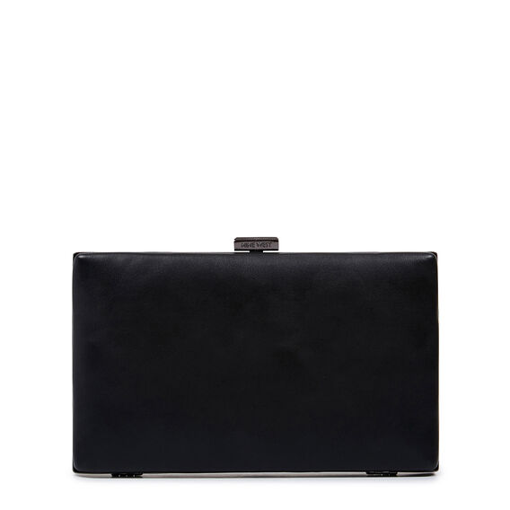 ISMAY COLLECTION CLUTCH  BLACK  hi-res
