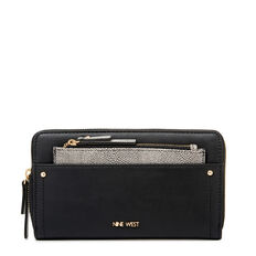 SMALL ACCESSORIES ZIP AROUND WALLET  BLACK MULTI  hi-res