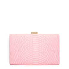 LARGE ISMAY COLLECTION CLUTCH  PINK  hi-res