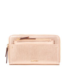 SMALL ACCESSORIES ZIP AROUND WALLET  ROSE GOLD  hi-res