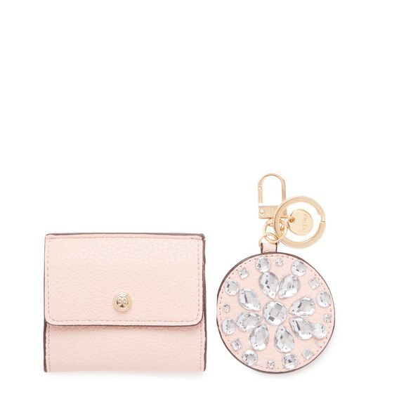 GIFTING MIRROR AND COIN PURSE  ROSE  hi-res