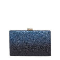LARGE ISMAY COLLECTION CLUTCH  BLUE BLACK  hi-res