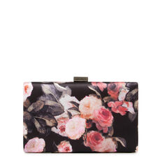 LARGE ISMAY COLLECTION CLUTCH  DUSTY PINK FLORAL  hi-res
