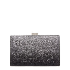 LARGE ISMAY COLLECTION CLUTCH  BLACK SILVER  hi-res