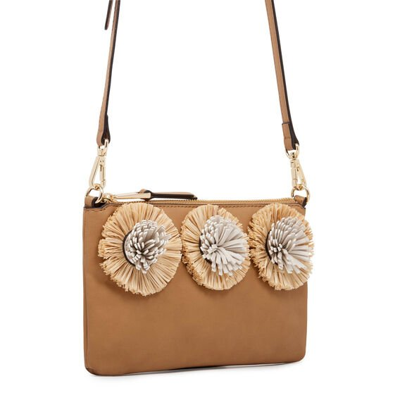 CROSSBODY WITH POMS  BROWN  hi-res