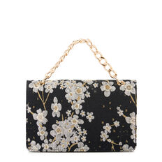 COLMA COLLECTION CLUTCH  BLK FLORAL JACQUARD  hi-res