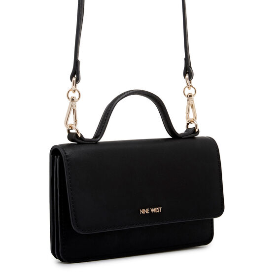 SMALL ACCESSORIES TOP HANDLE WALLET  BLACK  hi-res