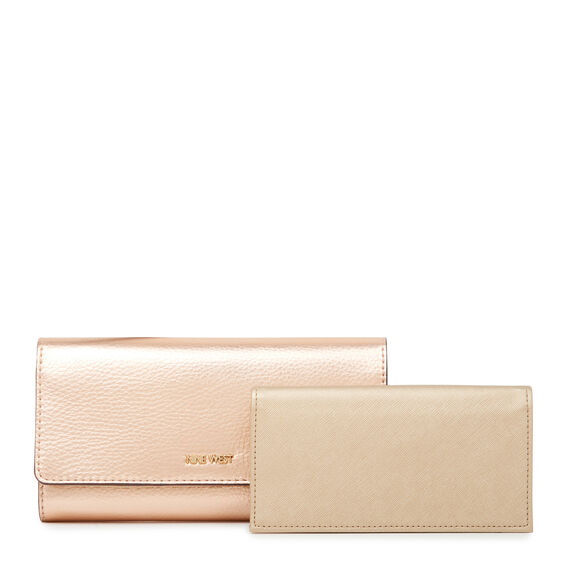SMALL ACCESSORIES CONTINENTAL WALLET  ROSE GOLD  hi-res