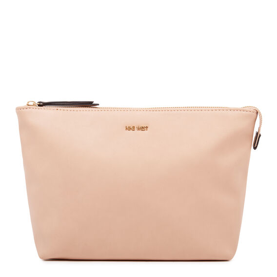 COSMETIC POUCH LARGE  BARELY NUDE  hi-res