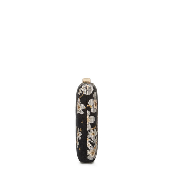 LARGE ISMAY COLLECTION CLUTCH  BLK FLORAL JACQUARD  hi-res