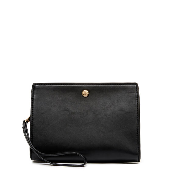 TABLE TREASURES TOP ZIP WRISTLET  BLACK  hi-res