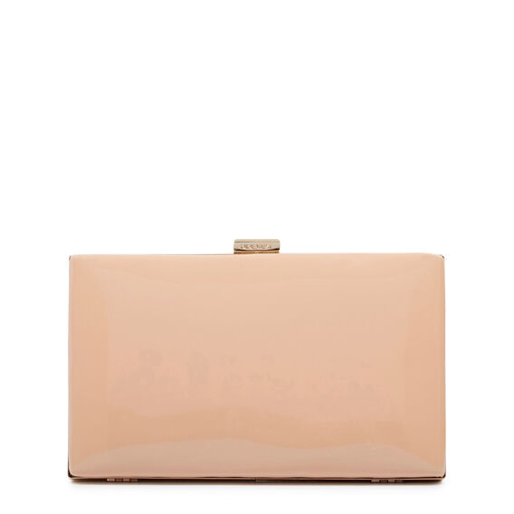 ISMAY COLLECTION CLUTCH  NATURAL PATENT  hi-res