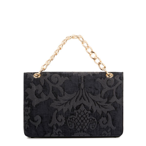 COLMA COLLECTION CLUTCH  BLACK JACQUARD  hi-res