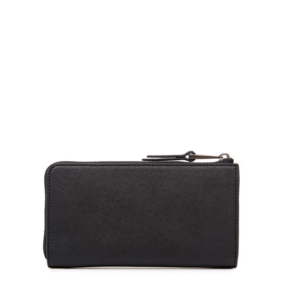 CONTINENTAL HALF ZIP WALLET  BLACK  hi-res