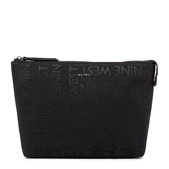 COSMETIC POUCH LARGE  BLACK  hi-res