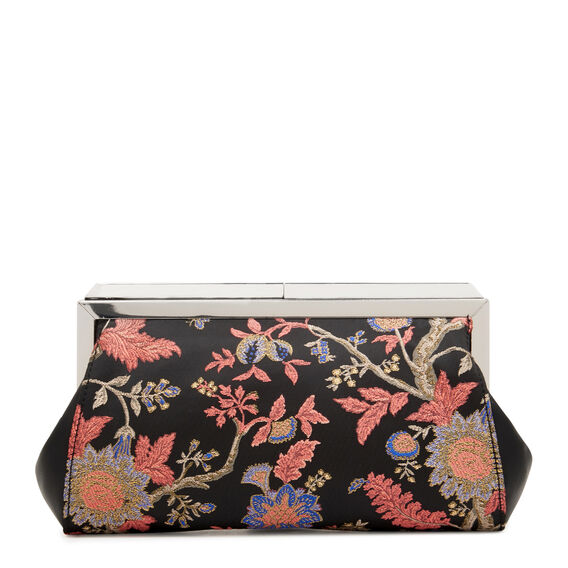ALMA CLUTCH  BLACK MULTI JACQUARD  hi-res