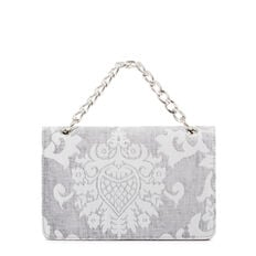 COLMA COLLECTION CLUTCH  SILVER JACQUARD  hi-res