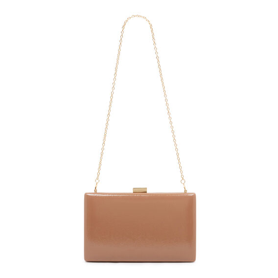 LARGE ISMAY COLLECTION CLUTCH  DARK WHEAT  hi-res
