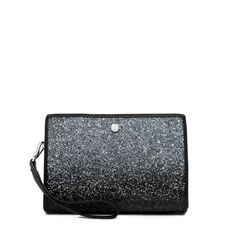 TABLE TREASURES TOP ZIP WRISTLET  BLACK SILVER  hi-res