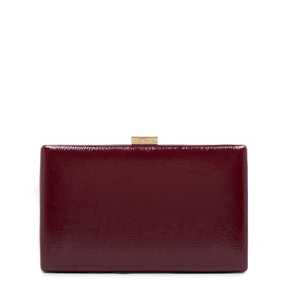 LARGE ISMAY COLLECTION CLUTCH  BERRY  hi-res