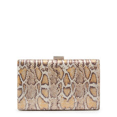 LARGE ISMAY COLLECTION CLUTCH  SILVER REPTILE  hi-res