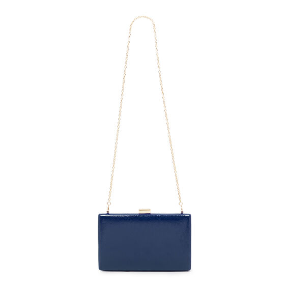 LARGE ISMAY COLLECTION CLUTCH  DARK BLUE  hi-res