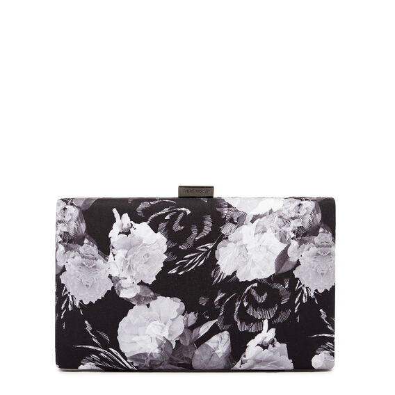 LARGE ISMAY COLLECTION CLUTCH  BLACK MULTI  hi-res