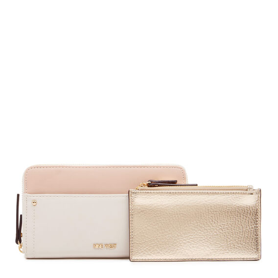 SMALL ACCESSORIES ZIP AROUND WALLET  WHITE  hi-res