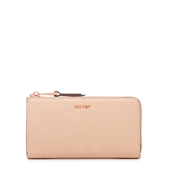 CONTINENTAL HALF ZIP WALLET  BARELY NUDE MULTI  hi-res