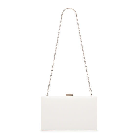 LARGE ISMAY COLLECTION CLUTCH  WHITE  hi-res