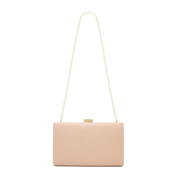 LARGE ISMAY COLLECTION CLUTCH  BARELY NUDE  hi-res