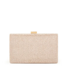 LARGE ISMAY COLLECTION CLUTCH  GOLD  hi-res