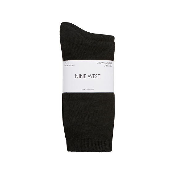 CREW SOCKS 3 PACK  BLACK  hi-res