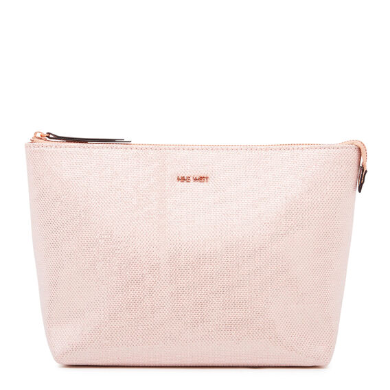 COSMETIC POUCH LARGE  LIGHT PINK  hi-res