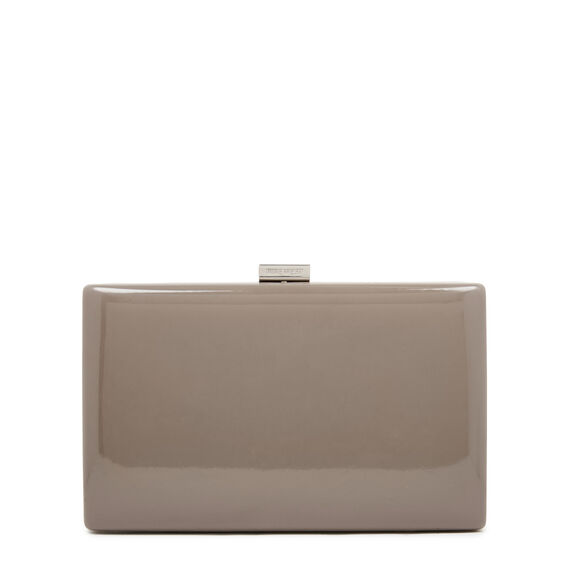 LARGE ISMAY COLLECTION CLUTCH  PEWTER  hi-res