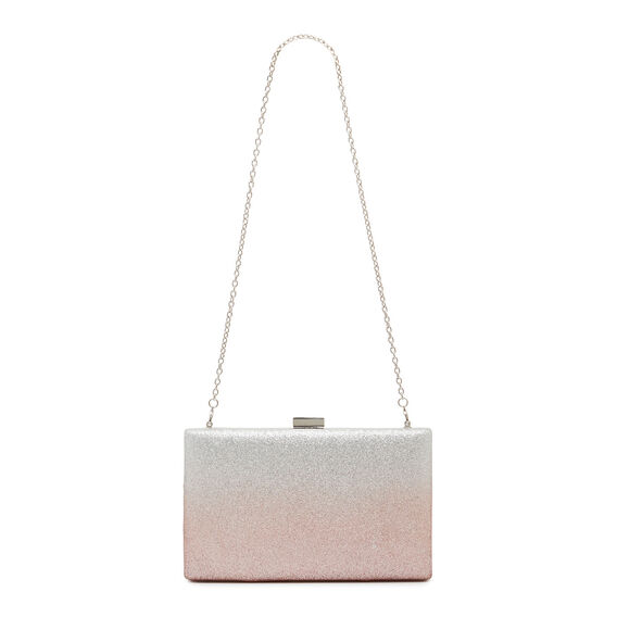 LARGE ISMAY COLLECTION CLUTCH  OMBRE ROSE  hi-res
