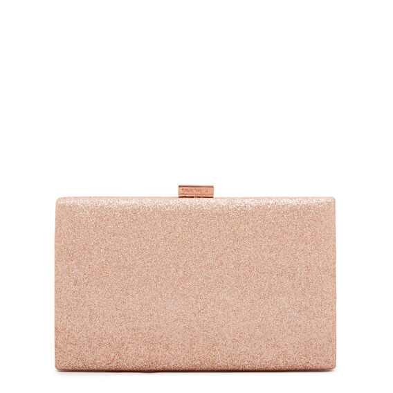 LARGE ISMAY COLLECTION CLUTCH  ROSE GOLD  hi-res