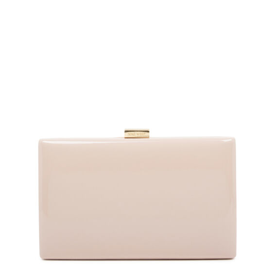 LARGE ISMAY COLLECTION CLUTCH  CASHMERE  hi-res
