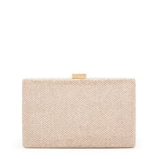 LARGE ISMAY COLLECTION CLUTCH  SAND  hi-res
