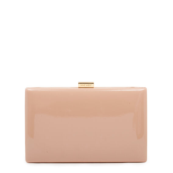 LARGE ISMAY COLLECTION CLUTCH  BARELY NUDE PATENT  hi-res