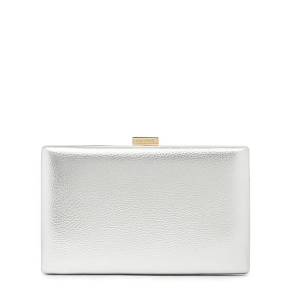 LARGE ISMAY COLLECTION CLUTCH  SILVER  hi-res