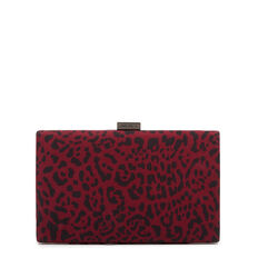 LARGE ISMAY COLLECTION CLUTCH  CLARET MULTI  hi-res