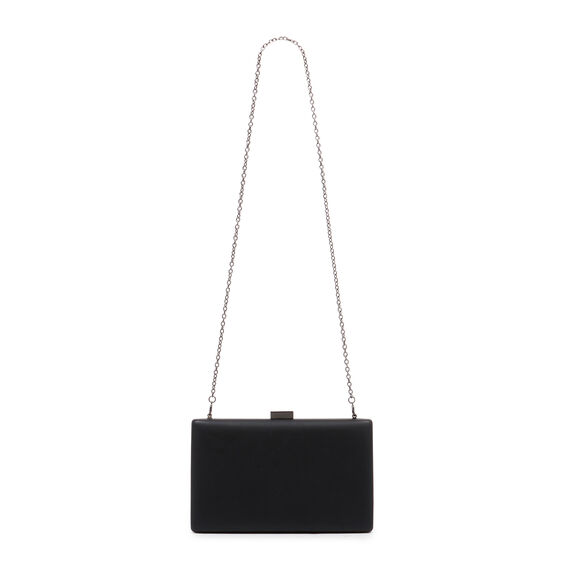 LARGE ISMAY COLLECTION CLUTCH  BLACK  hi-res